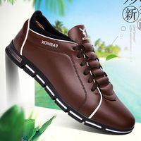 модная обувь корейский стиль мужчины оптовых-Новая мужская мода корейского издания британский спортивный стиль отдыха трансграничной мужской обуви очень большой размер четыре сезона мужская обувь