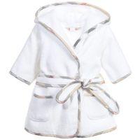 banyo havluları giymek toptan satış-Çocuk Pijama Bornoz Yeni Erkek Kız Pembe Kapşonlu Bornoz Çocuk Bebek Pijama Ev Giyim Bebek Bornoz Karikatür Bebek Beyaz Banyo Havlusu