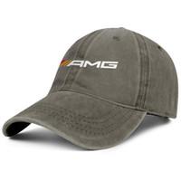 bonés para jovens venda por atacado-Mercedes AMG logotipo marrom mens e mulheres Denim Cap tampão do camionista estilos de beisebol personalizado chapéus da juventude Preto