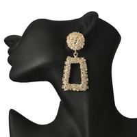 Wholesale geometric earrings for sale - Vintage Indian Big Earrings Women Silver Gold Color Geometric Statement Wedding Dangle Earrings Chandelier Bohemian Party Jewelry Cheap