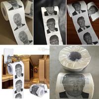 lustige geschenke geben verschiffen frei großhandel-Neuheits-Toiletten-Seidenpapier für Donald- Trumprollenart- und weiselustige Spaß-Gag-Geschenke 3 reden freies Verschiffen HH9-2164 an