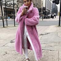 Wholesale bear coats for sale - Group buy Long Teddy Bear Jacket Coat Women Winter Thick Warm Oversized Overcoat Women Faux Lambswool Fur Coats Chunky Outerwear