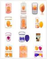 make-up ei schwämme großhandel-Make-up Ei Schwamm Set Blender Beauty Foundation Blending Schwamm, makellos für Flüssigkeiten, Cremes und Puder, mehrfarbige Make-up Schwämme