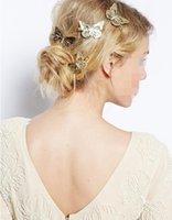 pinza de pelo mariposa oro al por mayor-Los nuevos accesorios para el cabello, las pinzas para el cabello, las broches de mariposa para dama, las bodas y las reuniones sociales de Lady 2019.