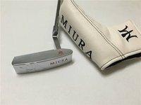 marcas de putters de golfe venda por atacado-Nova marca Miura KM-009 Putter Putter Golf Clubes de Golfe MiURA 33/34/35 Polegada Eixo de Aço Com Tampa Da Cabeça