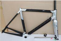 carbono prata mate venda por atacado-2019 Colnago C64 prata brilhante fosco carbono bicicleta estrada quadro 48 cm 50 mm 52 cm 54 cm 56 cm