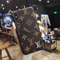 Wholesale cell phones metal cases for sale – best Retro Cell phone Case for IPhone X XS Max XR plus plus s Plus Fashion Card Slot Luxurious Designer Back Skin Cover Metal Logo