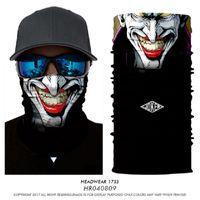 iskelet kaskları toptan satış-3D Sihirli Toz geçirmezlik Termal Terör Yüz Shield Borulu Kafatası İskeleti Balaclava Kask Cap Yürüyüş Bisiklet Doğa Sporları Şapkalar