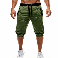 ingrosso pantaloncini jogger-Mens Baggy Jogger Casual Slim Harem Pantaloncini Soft 3/4 Pantaloni Fashion New Brand con Logo Uomini Pantaloni sportivi Summer Comodo Pantaloncini maschili M-3XL