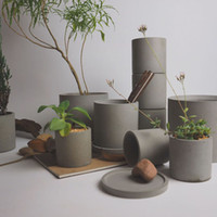 outils de bétonnage achat en gros de-100% Pinkmore Moules en silicone Moules ronds pour pots de fleurs Béton Vase Jardin moule à ciment DIY Craft Tool