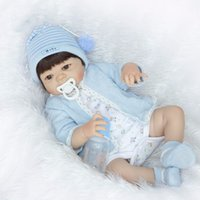 Wholesale boy baby alive dolls for sale - Group buy New cm Full Silicone Vinyl Reborn boy brinquedos Doll Toys inch Newborn Bebe Princess Babies Alive Bath Toy Play House Toys