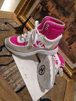 topo de calção de borracha venda por atacado-Famosa Marca de Cor Misturada Camurça Ankle Boots Superior Para As Mulheres Dedo Do Pé Redondo Salto De Borracha Cross-amarrado High Top Sneakers Sapatos de Inverno Mulher