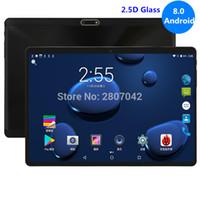 çift sim tabletler 4gb ram toptan satış-2019 Yeni 10 inç tablet Android 8.0 4 GB RAM 64 GB ROM Sekiz Çekirdekli 1280X800 2.5D IPS Ekran Çift SIM Kartları 3G 4G FDD LTE GPS Pad 10