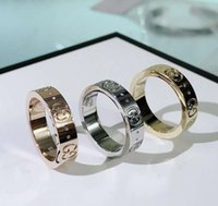 Wholesale women gold rings resale online - 2020 Best selling new letter fashion simple couple designer ring luxury designer jewelry women rings