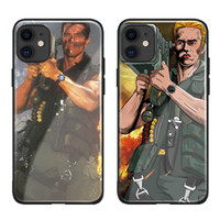 Wholesale galaxy posters for sale - Group buy Arnold Schwarzenegger movie Commando poster glossy smooth tempered glass case For Apple iPhone PRO MAX i11 pro coque