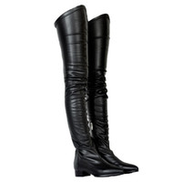 büyük çizmeler toptan satış-ZDONE Bayanlar 2019 Yeni Klasik Uyluk-yüksek Çizmeler Büyük Boy Kış Uzun Patik Parti Balo Moda Sıcak Elbise Akşam Çizmeler Ayakkabı N079
