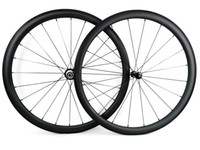 ruedas ud al por mayor-Sprint súper ligero Ruedas de carbono para escalada 38 mm de profundidad 25 mm de ancho remachador / Rueda de carbono de bicicleta de carretera tubular UD acabado mate