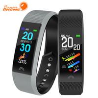 pulseras para mujer usa al por mayor-F6 Pulsera Inteligente Monitor de Ritmo Cardíaco Impermeable Rastreador de Fitness Bluetooth Reloj Banda Para Android IOS Mujeres Hombres Pulsera