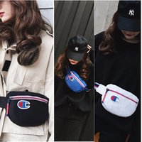 Wholesale cheap china phones for sale - ins Champion Bags Letters Printed Canvas Backpack Fashion Men Women Casual Sports Waist Bag Travel Phone Wallets Cheap C3152