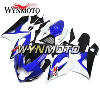 motocicletas gsxr plásticos venda por atacado-Injeção de plástico ABS Motocicleta Carenagens Para Suzuki GSXR1000 K5 2005 2006 Azul Vermelho Branco gsxr 1000 05 06 motocicleta Cobre capotas