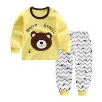 kinder stern pyjamas großhandel-MUQGEW Kind Kind Baby Jungen Mädchen roupa infantil Cartoon Ente Dear Dog Star Freizeit Pyjamas kleinkind mädchen kleidung Outfits Set