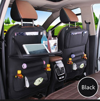 Wholesale seat tray table for sale - Group buy Multi function Car Tray Storage Chair Back Pocket Hanging Car Seat Back Storage Tray With Dining Table HHA244