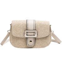 Wholesale small burlap bags resale online - Women S Hand Bag Straw Bag Shoulder Small Beach Woven Rattan Burlap Square Messenger
