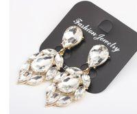 Wholesale knot earings resale online - high quality fashion diamond crystal silver women s cross earings CM