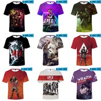 Wholesale baby fashion tracksuit resale online - 25 styles Apex Legends T shirt Summer D Print Video Games Short Sleeve O Neck Tees Tracksuit Fitness Tops for baby C6144