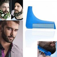 echter sex zum verkauf großhandel-Neue Heiße Verkauf Echt Haarbürste Haarkamm Bartformwerkzeug Sex Mann Gentleman Trim Vorlage Haarschnitt Form Modellierwerkzeuge