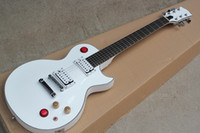 Wholesale white guitar knob resale online - Factory Custom White Electric Guitar With Rosewood Fretboard Chrome Hardware Red Skill Knob Can be customized