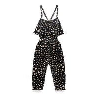 Wholesale toddler girl summer overalls for sale - Group buy Toddler Girls Cute Love Heart Print Sleeveless Overall Black Jumpsuit INS Infant Baby Gilrls Kids Summer Dot Children Clothes Boutiques