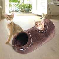 Wholesale small pet toys for sale - Group buy 1PC Soft Warm Winter Creative Comfortable Cat Tunnel Bed Cat Toys Sleeping Bed Pet Supplies