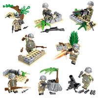juguetes alemanes al por mayor-Educativo WW2 La batalla de Berlín Bloque de construcción del ejército alemán Mini figura de juguete Conjunto de ladrillos militares de la Segunda Guerra Mundial