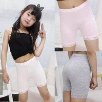 Wholesale white safety pant for sale – plus size 2019 Summer baby girl safe shorts children modal cotton lace leggings for girl white safety pants