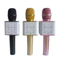 Wholesale china bluetooth speaker online – Q7 Bluetooth Microphone Portable Handheld Wireless KTV Karaoke Player Loudspeaker With MIC Speaker For iPhone Plus Samsung S7 Edge DHL