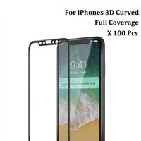 Wholesale color tempered glass online – For iPhone Plus X XR XS max D Full Cover Color Tempered Glass Soft Edge Screen Protector for iPhone with Package