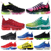ingrosso tn scarpe sportive-Nike Air Vapormax TN Plus 2019 TN Plus Scarpe da corsa Calabrone Olympic Work Blue Creamsicle Grape Sunset Gioco Royal Mens Sport donna Sneakers 36-45