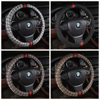 Pearl Velvet Steering Wheel Cover Winter Warm Plush Fluffy Wheel Protector Universal 38cm 15 M Size for women//men car interior