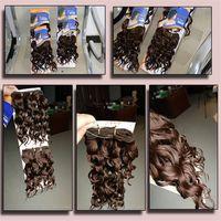 natürliche seide zum verkauf großhandel-Mode Heißer Verkauf Neue Weibliche Chemische Faser Haar Vorhang Hochtemperaturseide Natürliches Volumen Zweiteilige Haarverlängerung