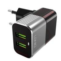 ingrosso iphone anti plug-LDNIO A2206 Auto-ID Dual USB Port Caricatore da viaggio plug-in americano con funzione anti-bruciamento per dispositivi intelligenti con cavo
