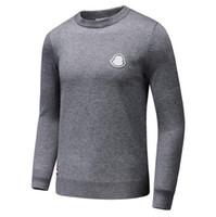 erkekler için mürettebatlı sweatshirtler toptan satış-Erkekler Için nakış Tasarımcı Kazak Mürettebat Boyun Kaşmir Kazak Uzun Kollu Kış Tişörtü