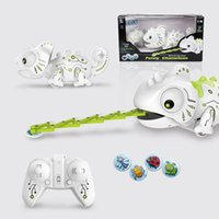Wholesale pet robot toys for kids online - Electronic Pets Toys Rc Robot Smart Chameleon Robotic Animals Can Eat Things Function Cute Intelligent Toys For Kids toys christmas gifts