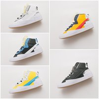 Wholesale hook stitch for sale - Group buy 2019 The New Designer sneakers Double hook structure overlapping shoes Sacai combine dunk blazer Leisure Sports running shoes