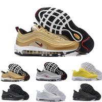 bala x al por mayor-Nike air max 97 airmax 97s Nuevo Air x UNDEFEATED OG UNDFTD Triple blanco balck verde Plata Bala Metalizado Oro gris Japón Hombres mujeres calzado deportivo Zapatilla 36-46