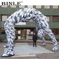 geometrische figur großhandel-Der Künstler entwarf die aufblasbare geometrische Figur des Bogens, der den diamantförmigen Gittermann des Torbogens des menschlichen Körpers zeichnet