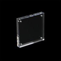 espacios en blanco para marcos de fotos al por mayor-Marco de fotos cuadrado transparente en blanco Marco de bloque de acrílico, 100x100mm, 135x135mm, 150x150mm, 16mm Espesor de acrílico Picture Holder