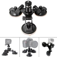 3 Leg Car Suction Cup Holder Triangle +Mini Tripod Head Adapter for Go Pro 6 5 4 3+ SJCAM Xiaomi Soocoo Cameras