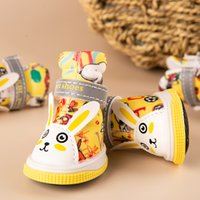 Wholesale cartoon dog shoes resale online - Cute Cartoon Pet Boots For Small Dogs And Cats Print Puppy Shoes Cute Chihuahua Yorkshire Poodle Outdoor Luminous Shoes SET