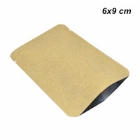 Wholesale round corner paper online - 100 x9 cm Kraft Paper Fillet Open Top Vacumm Heat Sealable Food Storage Bag Inner Aluminum Foil Round Corner Heat Sealing Packing Pouch